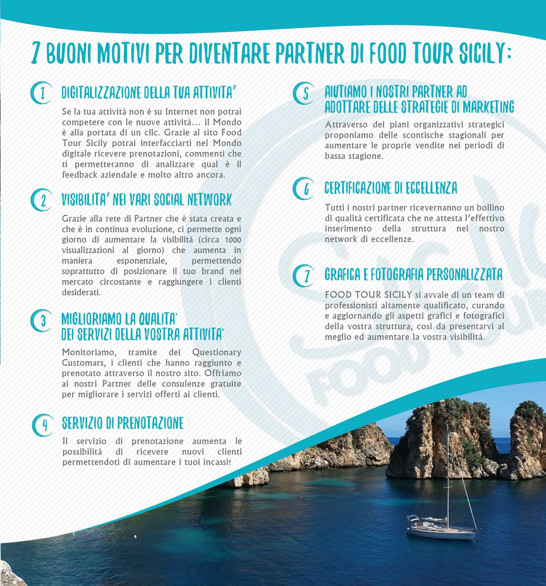 7 buoni motivi per far parte di food tour sicily