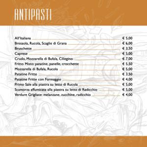 CAFFE ITALIA _ MENU 2017 DEFINITIVO ANTIPASTI